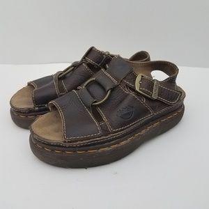 Dr. Martens Sandals Slip On Brown Buckle Shoes 7